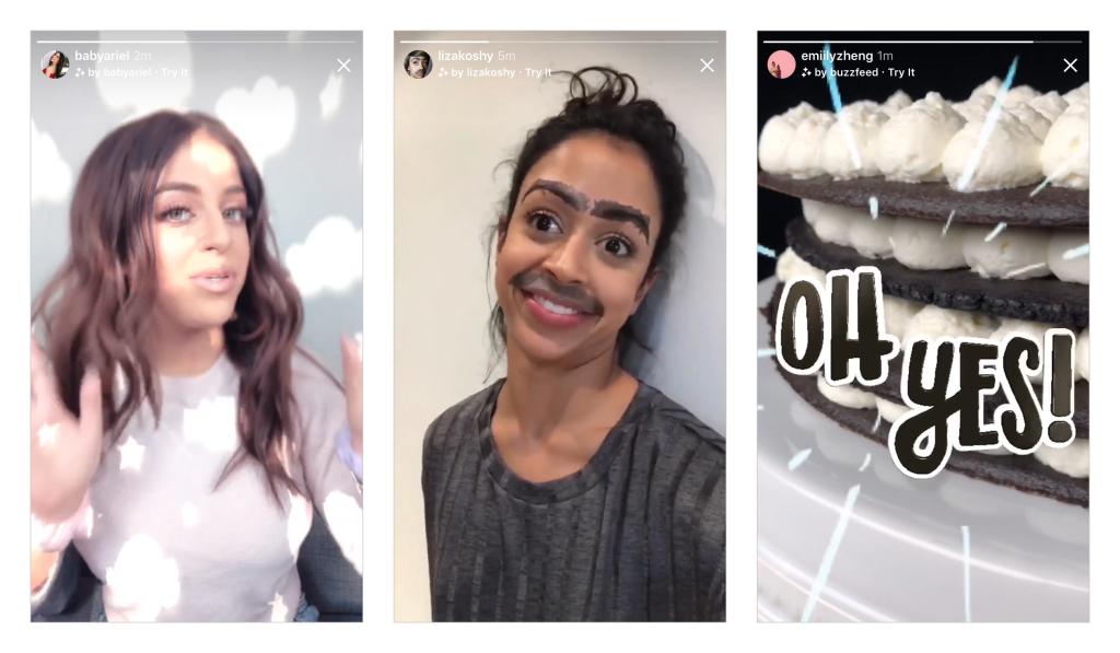 Efek kamera baru di Instagram Stories