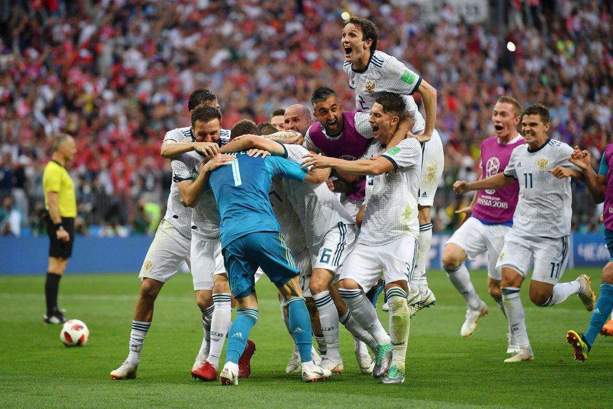 Rusia lolos ke babak perempat final Piala dunia 2018