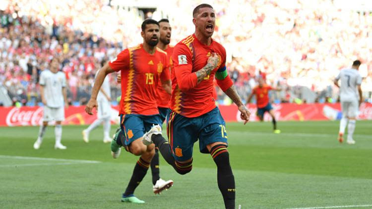 Spanyol lebih dulu unggul, Rusia Vs Spanyol