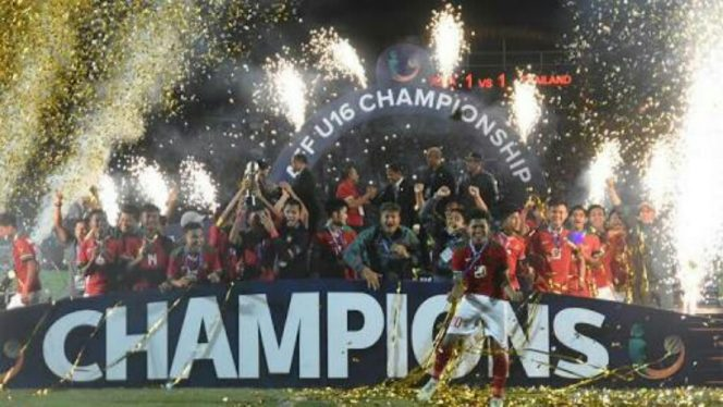 Menang Adu Penalti, Indonesia Raih Trofi Piala AFF U-16 2018