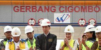 Jokowi Resmikan Tol Bocimi