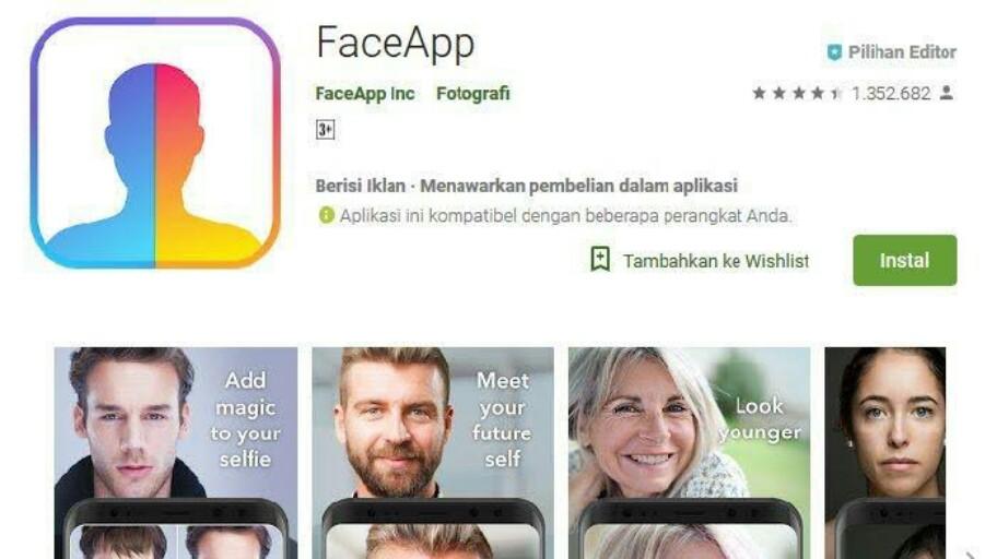 FaceApp Berbahaya