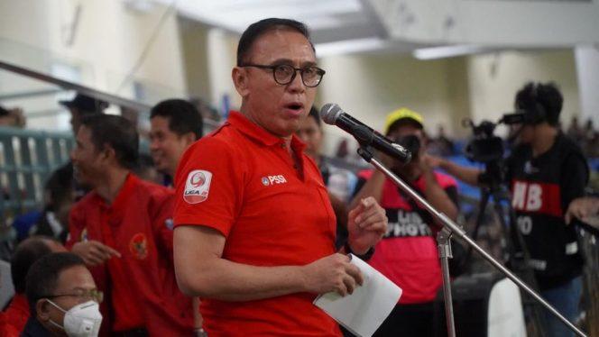Ketua Umum PSSI, M. Iriawan, memberikan tanggapan terkait 4 klub yang menolak untuk melanjutkan kompetisi Liga 1 2020. (Foto: Dok. PSSI)